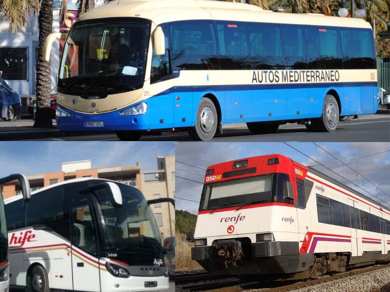 horario autobuses y trenes en vinaròs